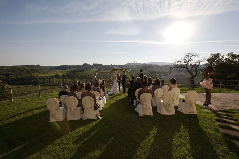 San Gimignano Villa Wedding