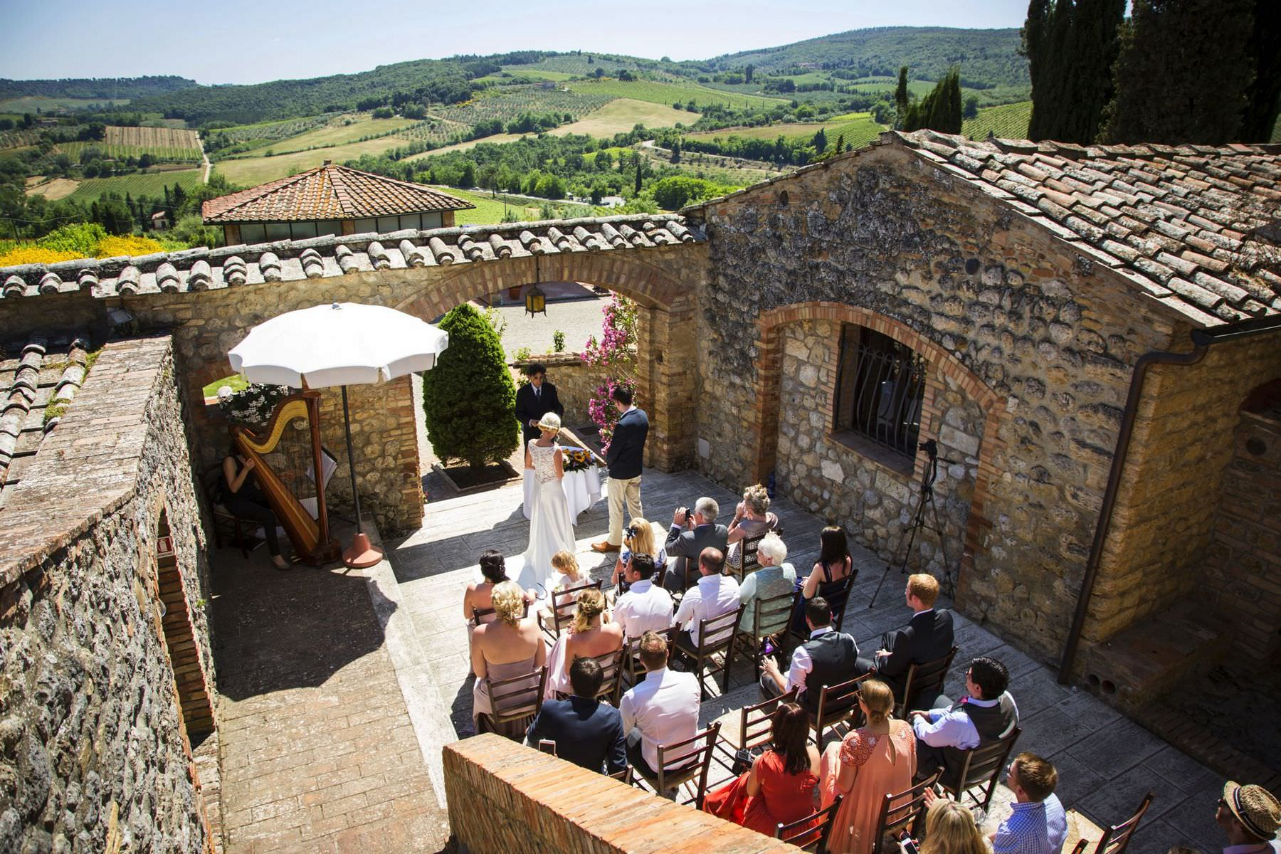 farmhouse wedding tuscany