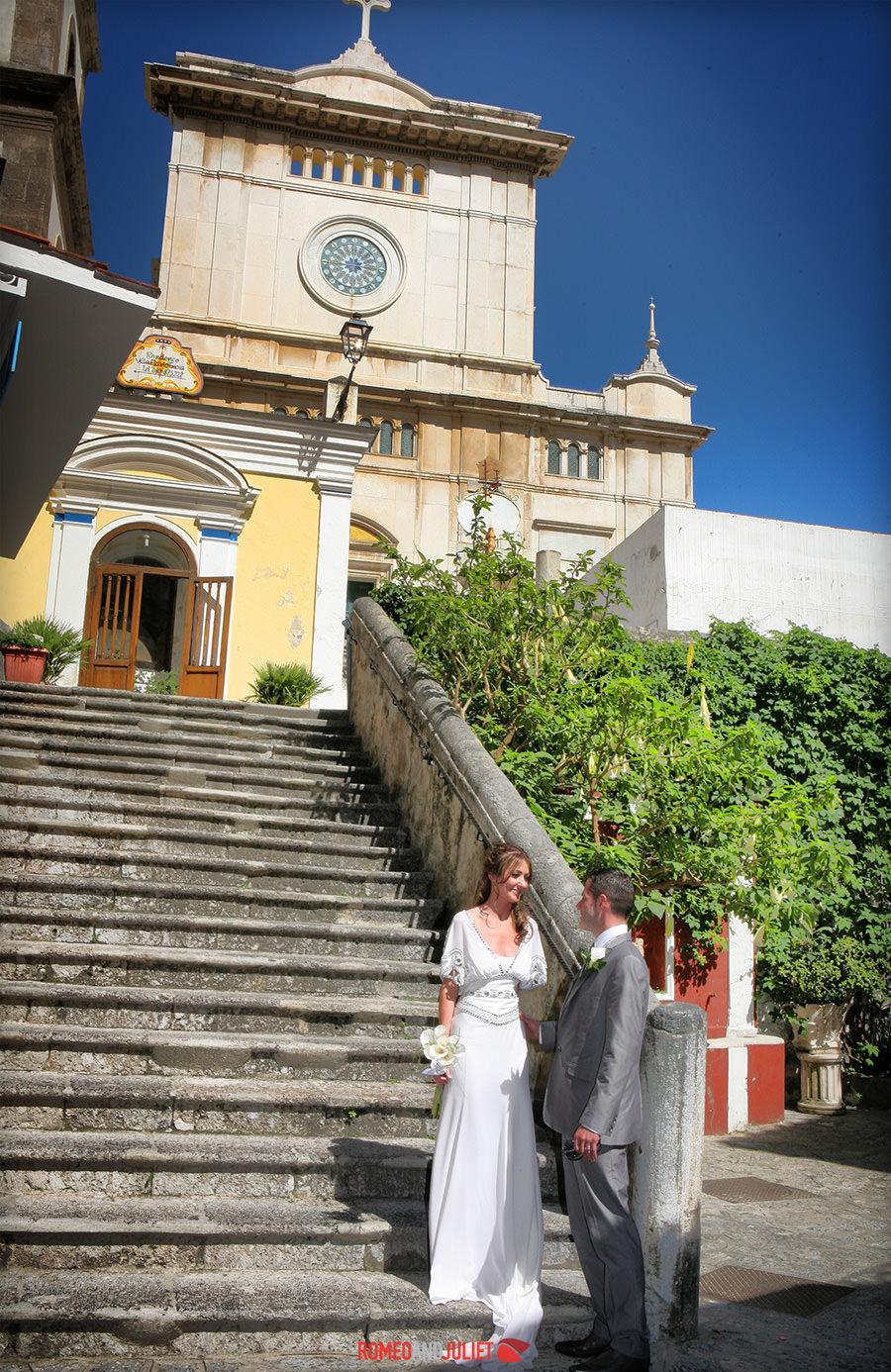 Positano Catholic Wedding Positano Amalfi Coast
