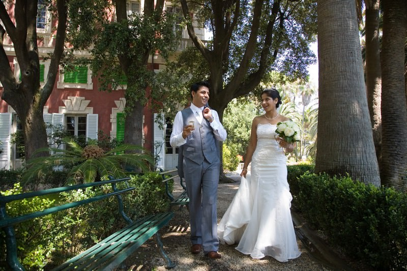 A summer civil wedding at Villa Durazzo