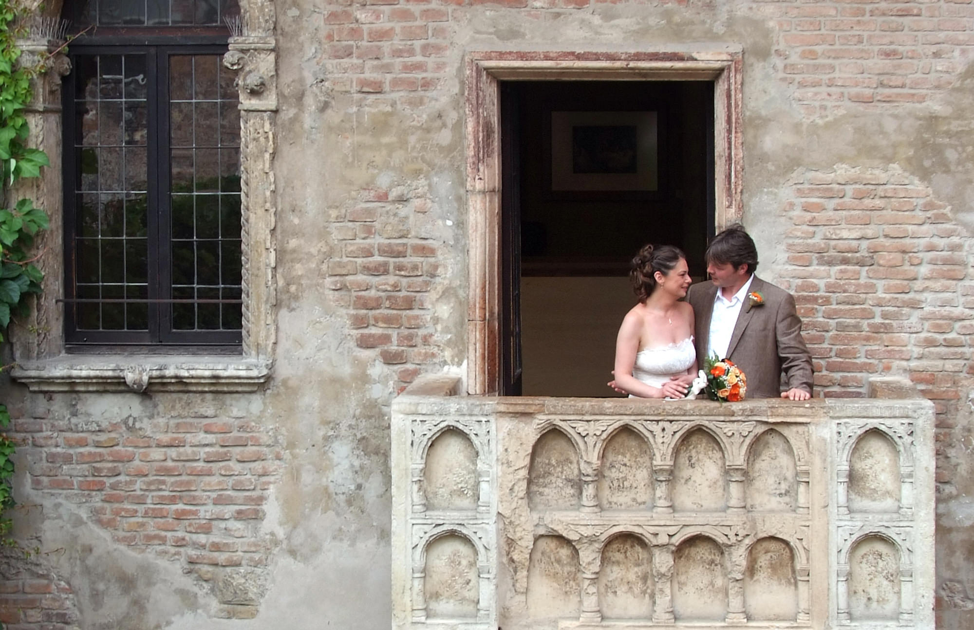 Juliet's balcony wedding