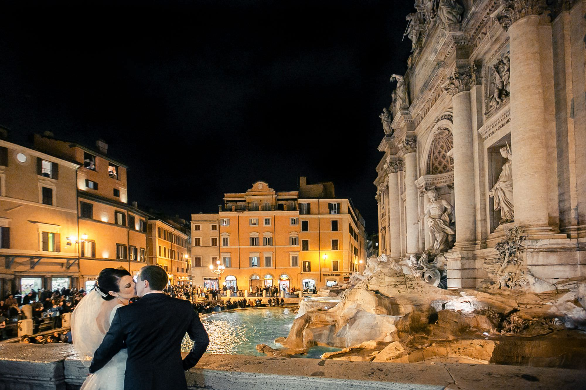 Winter wedding in Rome