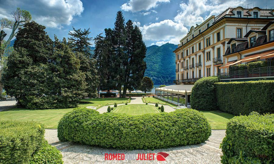 This is villa d 2019este, a very opulent and luxurious hotel that has been listed as a unesco world heritage site