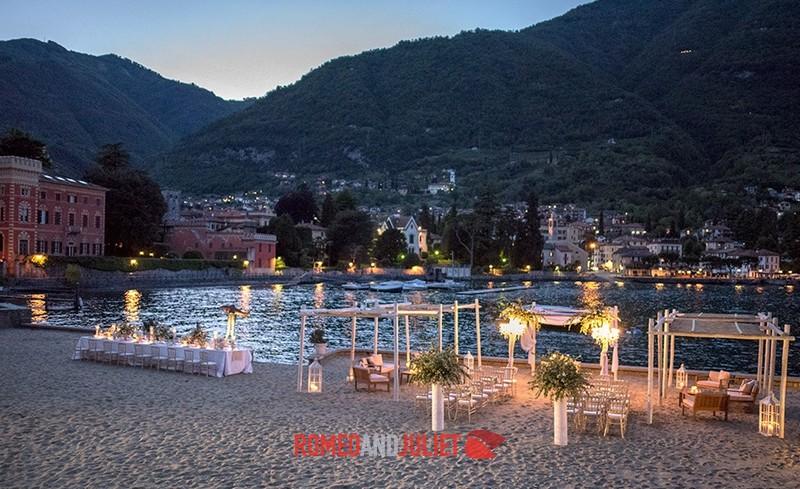 Lake Como Beach Wedding