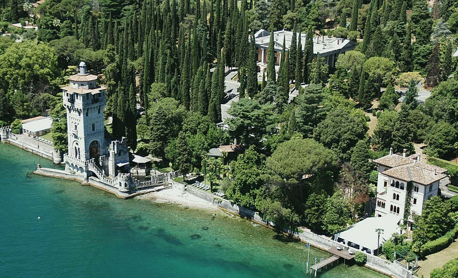 Gardone Villa With Tower Gardone Lake Garda Italy