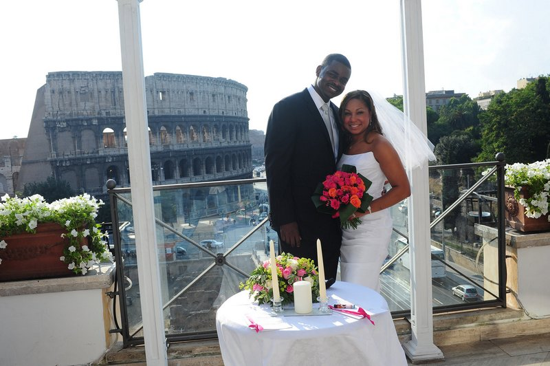 Coliseum Wedding