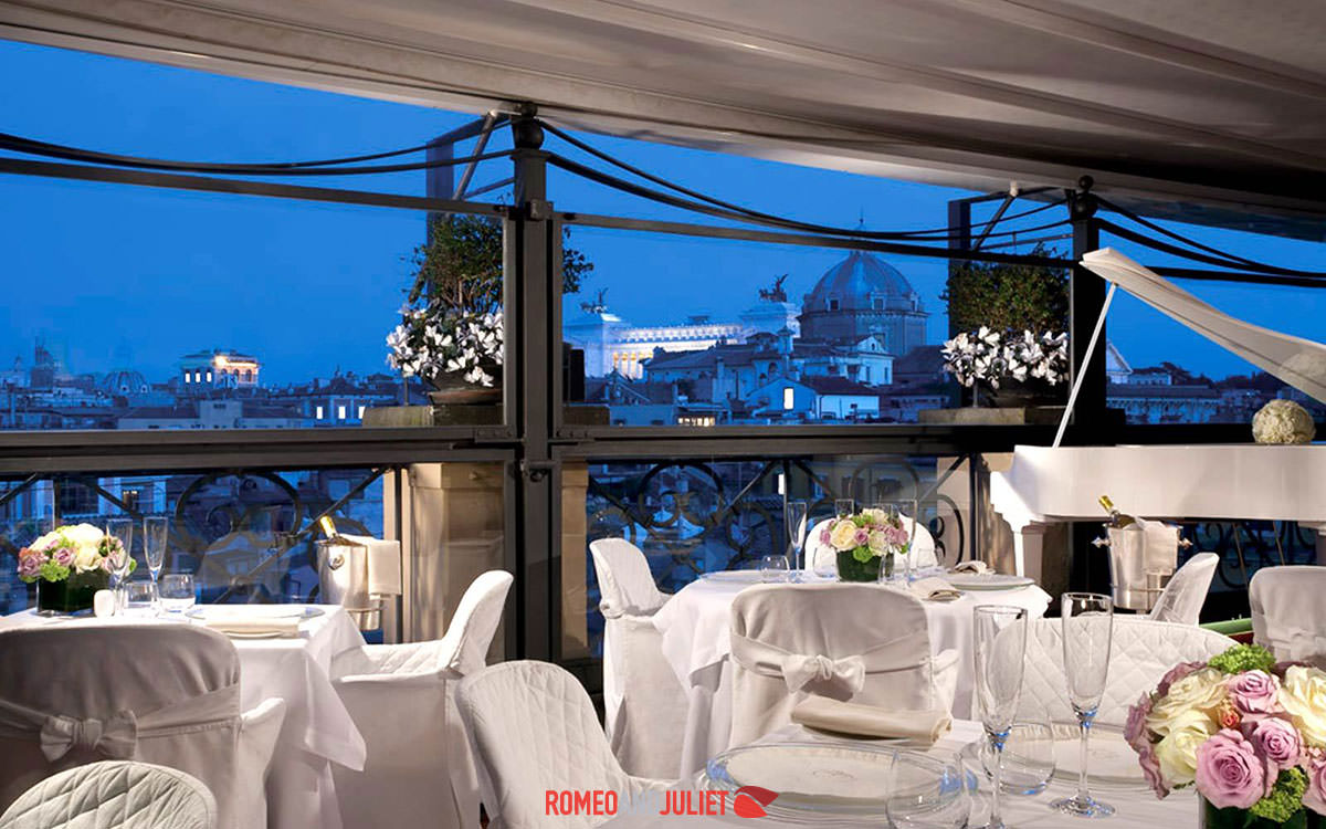 Luxury Rooftop Rome Italy Wedding Locations
