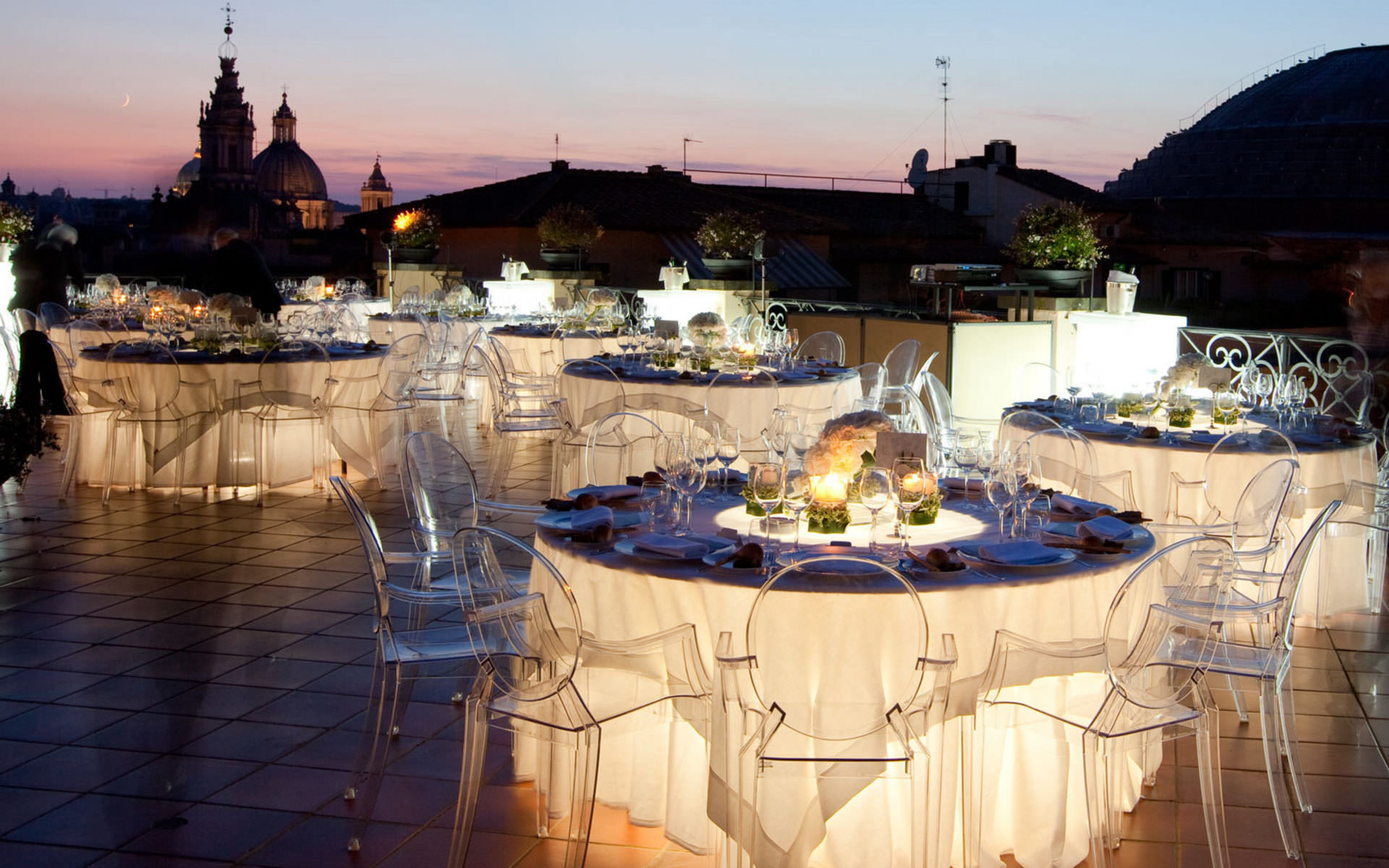 Luxury rooftop rome italy wedding locations for Local venues for weddings