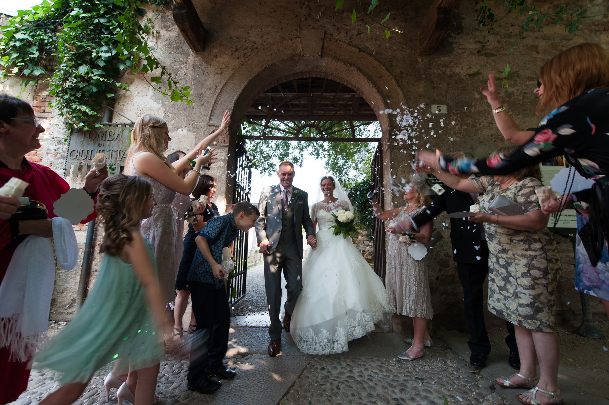 Just Married in Verona Italy